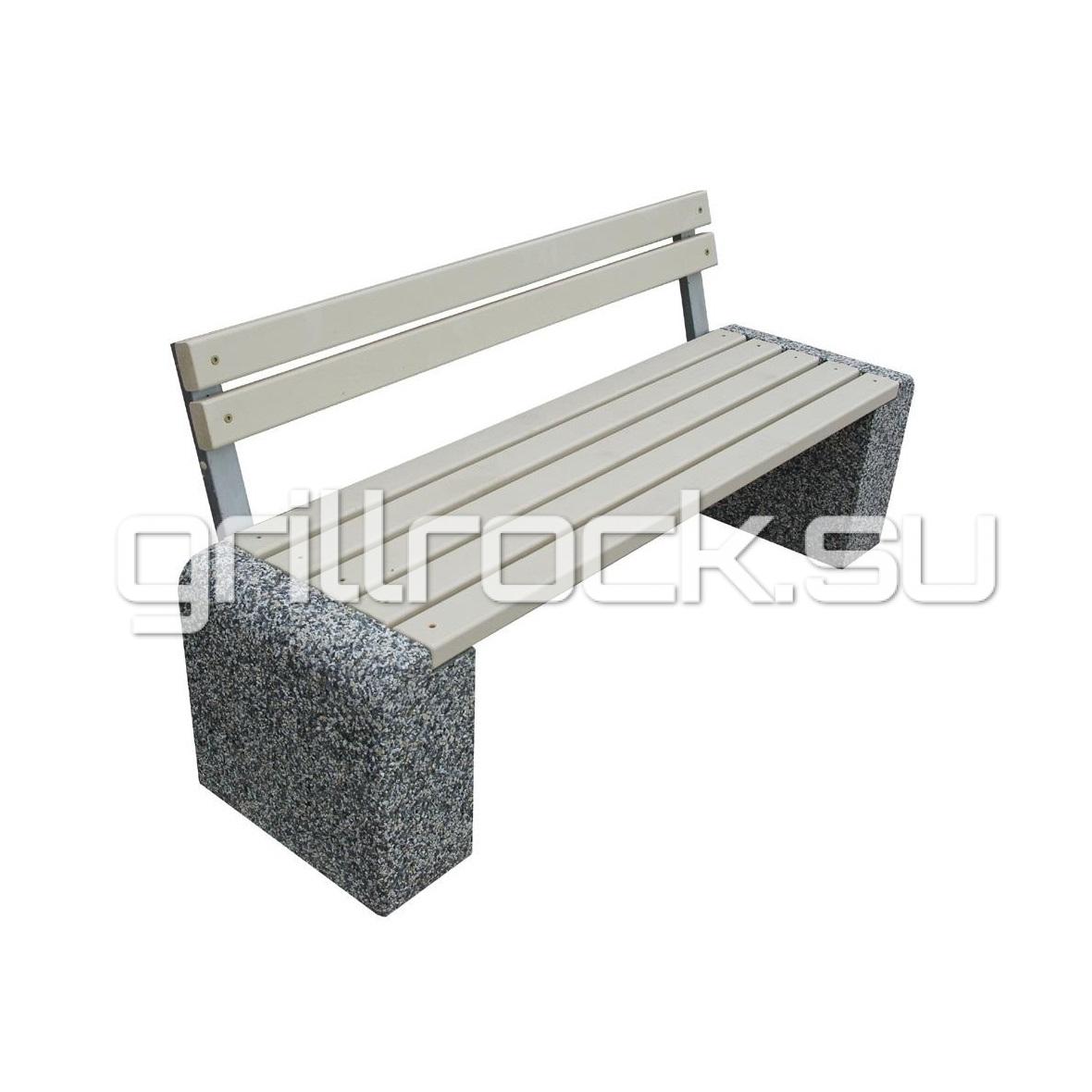 скамейка со спинкой Евро