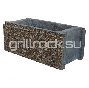 Заборный блок бетонный