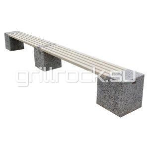 "Бетонная уличная (парковая) скамейка ""Евро 2 Лайн"""