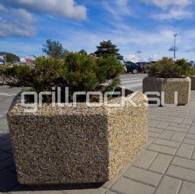 Шестигранный бетонный уличный вазон Марк